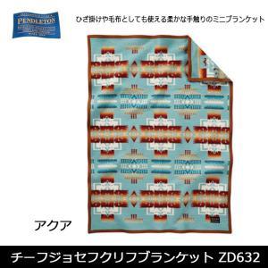 ペンドルトン PENDLETON チーフジョセフクリフブランケット ZD632 /19373097 アクア(51128) 【雑貨】 ブランケット 毛布 ひざ掛け ウール素材|snb-shop