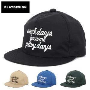 PLAYDESIGN プレイデザイン SUPER PLAY CAP(P01) P01-15SW17C01WP 【キャップ/防水透湿素材/山登り/刺繍】|snb-shop