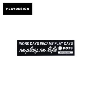 PLAYDESIGN プレイデザイン P01 BIG sticker 【ステッカー/スノーボード/スケートボード/チャリンコ/サーフボード/キャンプグッズ】|snb-shop