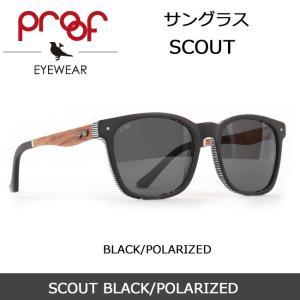 Proof/プルーフ サングラス SCOUT BLACK/POLARIZED snb-shop