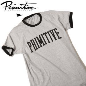 Primitive プリミティブ COLLEGIATE ARCH RINGER TEE 【Tシャツ/アウトドア/キャンプ/フェス】|snb-shop