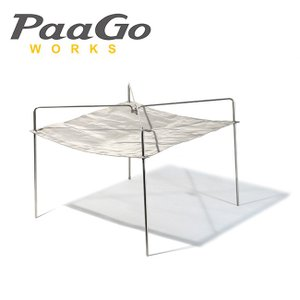 PaaGo WORKS パーゴワークス 焚火台 ニンジャファイアースタンド NJ-04-SV/CG801SLV|snb-shop