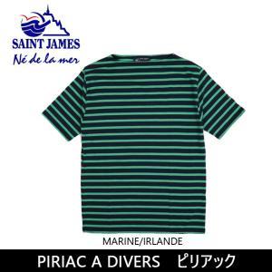SAINTJAMES セントジェームス Tシャツ PIRIAC A DIVERS ピリアック 【服】【t-cnr】 メンズ レディース|snb-shop