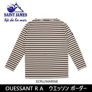 SAINTJAMES セントジェームス Tシャツ 長袖 OUESSANT R A ウエッソン ボーダー 【服】【t-cnr】 メンズ レディース|snb-shop