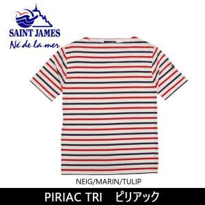SAINTJAMES セントジェームス Tシャツ PIRIAC TRI ピリアック 【服】【t-cnr】 メンズ レディース|snb-shop
