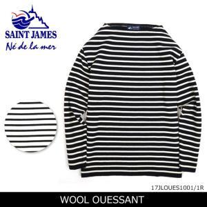 SAINTJAMES セントジェームス セーター WOOL OUESSANT ウールウェッソン 17JLOUES1001/1R 【服】ウール ボートネック 重ね着|snb-shop