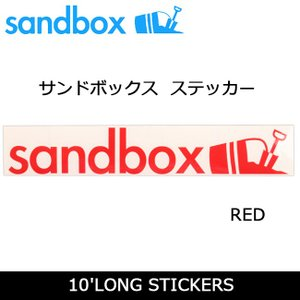SANDBOX サンドボックス 10'LONG STICKERS/RED|snb-shop