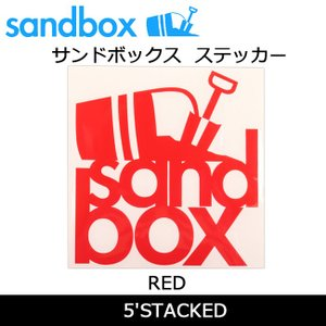 SANDBOX サンドボックス 5'STACKED/RED|snb-shop