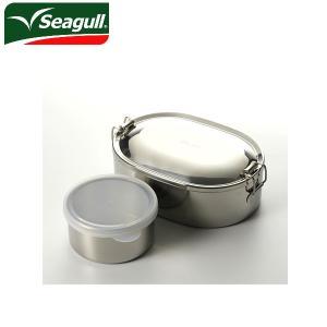 シーガル seagull ランチボックス オーバルランチボックス 弁当箱 ステンレス 16cm(730ml) デザートカップ付き|snb-shop