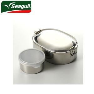 シーガル seagull ランチボックス オーバルランチボックス 弁当箱 ステンレス 17cm(800ml) デザートカップ付き|snb-shop