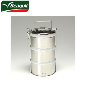 シーガル seagull 弁当箱 フードキャリア 弁当箱(ランチボックス) ステンレス 12×3(プラスチックふた付)|snb-shop