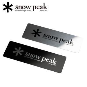 snowpeak スノーピーク メタルロゴステッカーセット FES-036 【アウトドア/キャンプ/シール/車/小物/雪峰祭限定】 snb-shop