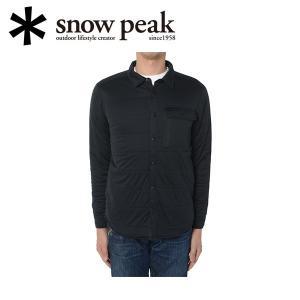スノーピーク snowpeak  フレキシブルインサレーションシャツ M ブラック/SW-15AU00203BK 【SP-APPL】