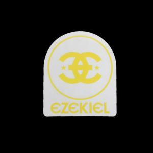 EZEKIEL ステッカー B YELLOW 8cm×6.5cm|snb-shop