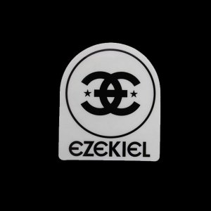 EZEKIEL ステッカー B BLACK 8cm×6.5cm|snb-shop
