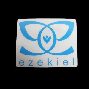 EZEKIEL ステッカー H BLUE 7.5cm×9.5cm|snb-shop