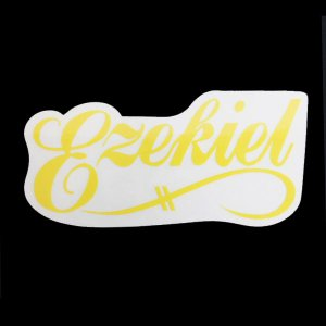 EZEKIEL ステッカー I YELLOW 6cm×12cm|snb-shop