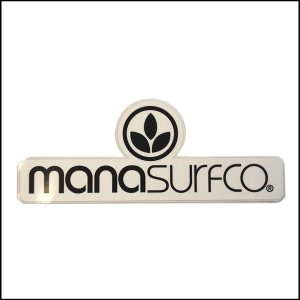 MANA SURFCO ステッカー C WHITE×BLACK 17cm×6.5cm|snb-shop