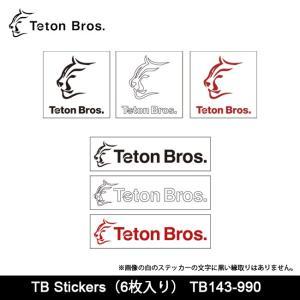 Teton Bros/ティートンブロス TB Stickers(6枚入り) TB143-990 【雑貨】 ステッカー シール 雑貨 おしゃれ|snb-shop