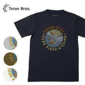 Teton Bros ティートンブロス TB Surf and Climb Tee TB191-440 【Tシャツ/半袖/メンズ/アウトドア/フェス】【メール便・代引不可】|snb-shop