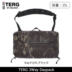 TERG/ターグ 3ウェイ デイパック マルチカモブラック 19930013039000 【カバン】メンズ リュック バックパック|snb-shop