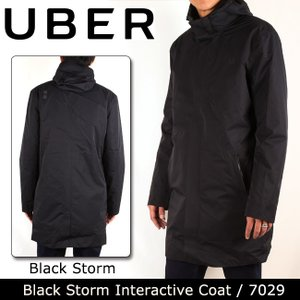 UBR ウーバー Black Storm Interactive Coat 7029 Black Storm 【服】コート ナイロン 防水性 保温性 UBER|snb-shop