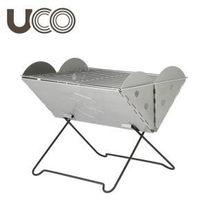 UCO/ユーシーオー 焚火台 フラットパックポータブル グリル&ファイヤーピット(収納ケース付) 2...