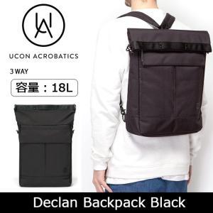 Ucon Acrobatics ユーコン アクロバティックス Declan Backpack  Black 【カバン】バックパック リュック カジュアル ビジネス|snb-shop