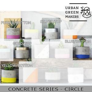 Urban Green Makers/アーバングリーンメーカーズ  CONCRETE SIRIES - CIRCLE /観葉植物 インテリア 【雑貨】|snb-shop