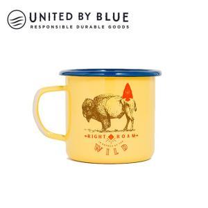 UNITED BY BLUE ユナイテッドバイブルー RIGHT TO ROAM 12oz ENAMEL STEELMUG 707-041 【アウトドア/キャンプ/マグ/エナメル/かわいい】|snb-shop