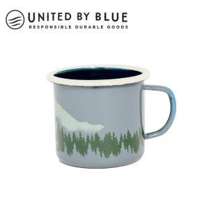 UNITED BY BLUE ユナイテッドバイブルー DEER 12oz ENAMEL STEELMUG 707-042 【アウトドア/キャンプ/マグ/エナメル/かわいい】|snb-shop