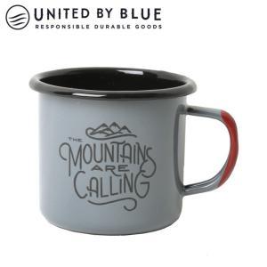 UNITED BY BLUE ユナイテッドバイブルー MOUNTAINS ARE CALLING 12oz ENAMEL STEELMUG 707-047 【アウトドア/キャンプ/マグ/エナメル/かわいい】|snb-shop