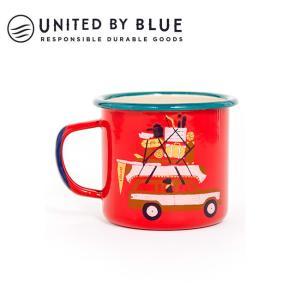 UNITED BY BLUE ユナイテッドバイブルー PLACES YOU'LL GO 12oz ENAMEL STEELMUG 707-044 【アウトドア/キャンプ/マグ/エナメル/かわいい】|snb-shop