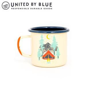 UNITED BY BLUE ユナイテッドバイブルー TENT DREAMS 12oz ENAMEL STEELMUG 707-043 【アウトドア/キャンプ/マグ/エナメル/かわいい】|snb-shop