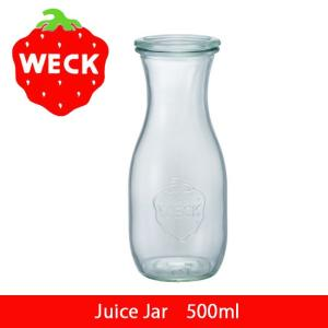 WECK ウェック Juice Jar 500ml WE-764 保存容器 キャニスター 保存ビン ガラス ストッカー 茶葉 ジャム コーヒー豆 【雑貨】|snb-shop