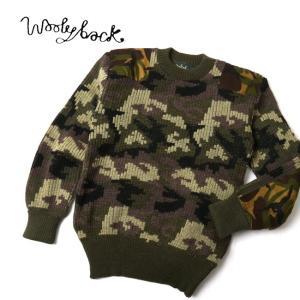 Woolyback ウーリーバック ニット Stirling Woodland Camo C-Neck 33104 【服】メンズ ニットウール 冬物 暖か 丸首 クルーネック|snb-shop