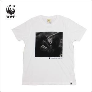 WWF/世界自然保護基金 Tシャツ S/S TEE NATURE THRIV/WHT チンパンジー【メール便・代引不可】|snb-shop
