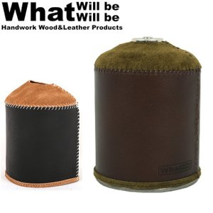 What will be will be ワット ウィル ビー ウィル ビー ガス缶カバー オイルレザー&スウェードODガス缶カバー(大:470/500サイズ) 【BBQ】【CZAK】アウトドア|snb-shop