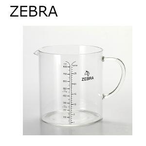 ゼブラ ZEBRA 計量カップ グラスメジャーカップ 850ml|snb-shop