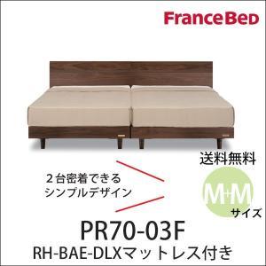 フランスベッド ベッド セミダブル2台セット プレミア70 PR70-03F BAE-DLXマット付...