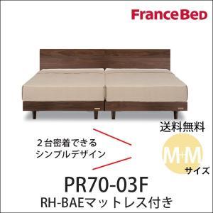 フランスベッド ベッド セミダブル2台セット プレミア70 PR70-03F BAEマット付 すきま...