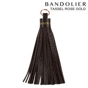 BANDOLIER バンドリヤー iPhone タッセル チャーム アクセサリー キーホルダー TASSEL ROSE GOLD メンズ レディース レザー ブラック 11/15 新入荷|sneak
