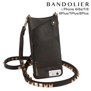 BANDOLIER バンドリヤー iPhone8 iPhone7 7Plus 6s ケース スマホ アイフォン プラス JENNY GOLD レザー メンズ レディース ブラック 11/15 新入荷|sneak
