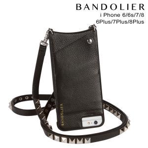 BANDOLIER バンドリヤー iPhone8 iPhone7 7Plus 6s ケース スマホ アイフォン プラス JENNY SILVER レザー メンズ レディース ブラック 11/15 新入荷|sneak