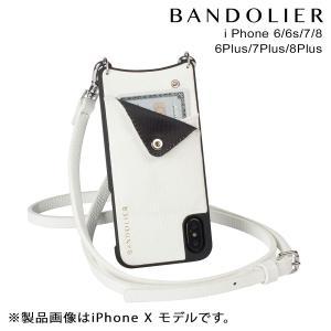 BANDOLIER バンドリヤー iPhone8 iPhone7 7Plus 6s ケース スマホ アイフォン プラス EMMA WHITE レザー メンズ レディース [2/14 新入荷]|sneak