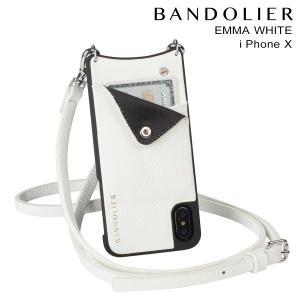BANDOLIER バンドリヤー iPhoneX ケース スマホ アイフォン EMMA WHITE レザー メンズ レディース [2/14 新入荷]|sneak
