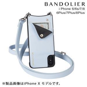 BANDOLIER バンドリヤー iPhone8 iPhone7 7Plus 6s ケース スマホ アイフォン プラス CARLY LIGHT BLUE レザー メンズ レディース [2/14 新入荷]|sneak