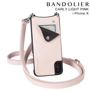 BANDOLIER バンドリヤー iPhoneX ケース スマホ アイフォン CARLY LIGHT PINK レザー メンズ レディース [2/14 新入荷]|sneak