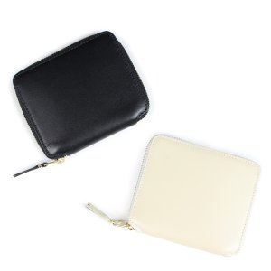 コムデギャルソン 財布 二つ折り メンズ レディース ラウンドファスナー COMME des GARCONS SA2100 ブラック オフホワイト 9/10 新入荷
