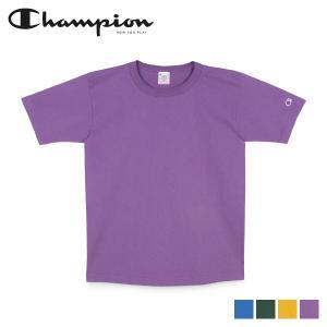 チャンピオン Champion Tシャツ 半袖 メンズ レディース 無地 MADE IN USA T1011 US T-SHIRT ブルー グリーン イエロー パープル C5-P301 sneak